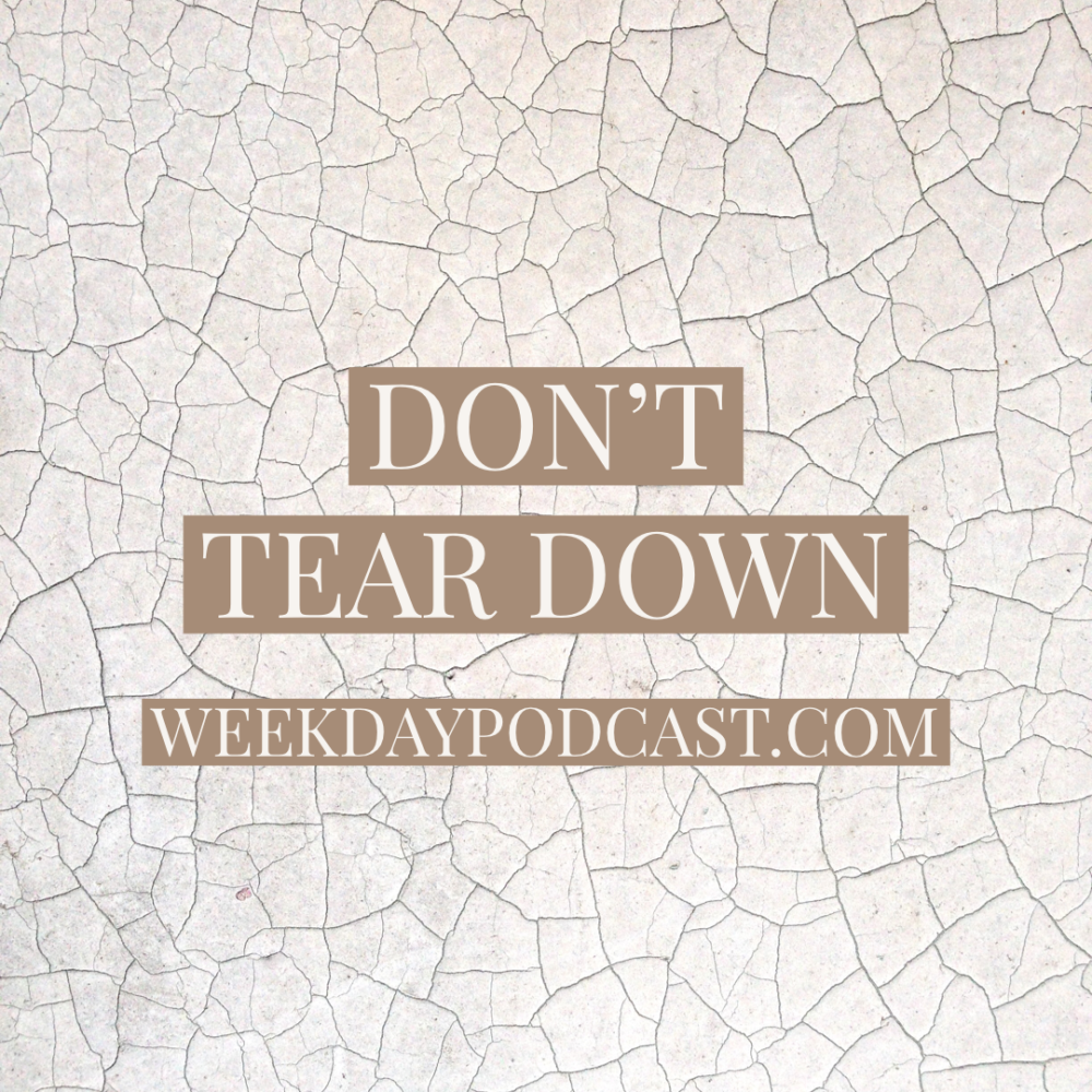 Don\'t Tear Down Image