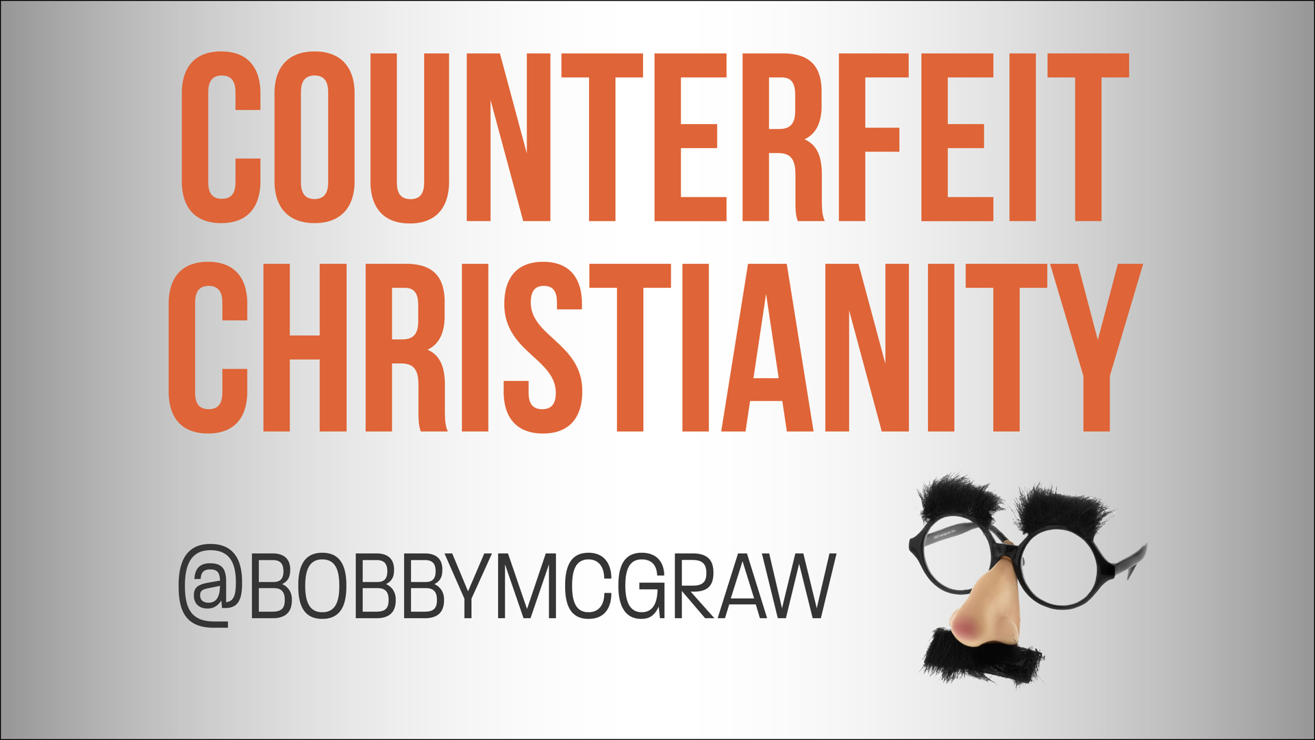 Counterfeit Christianity Image