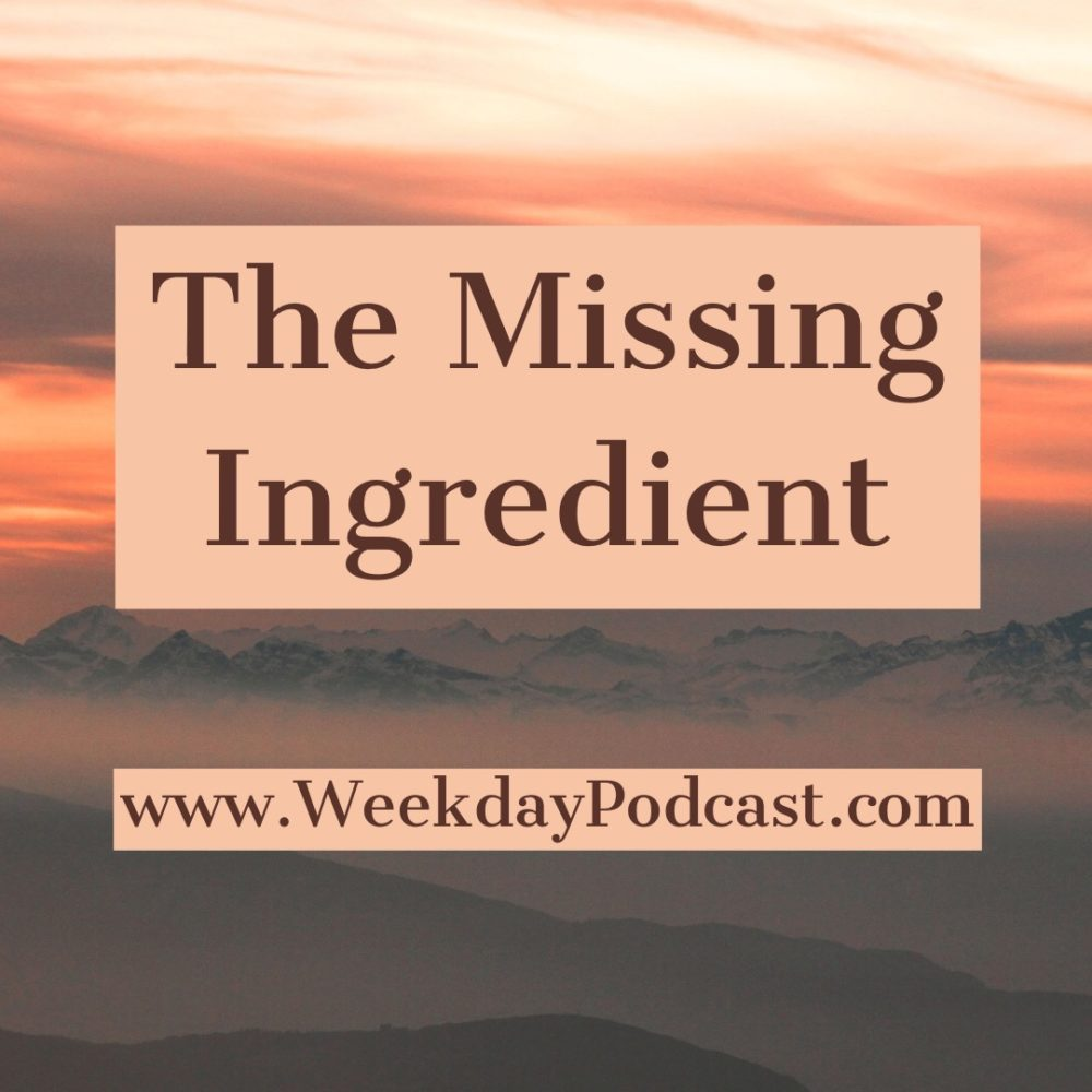The Missing Ingredient