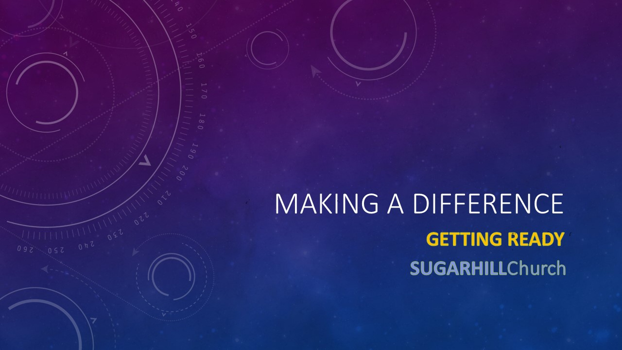 Making A Difference : Getting Ready Image